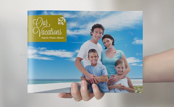 family vacation album template