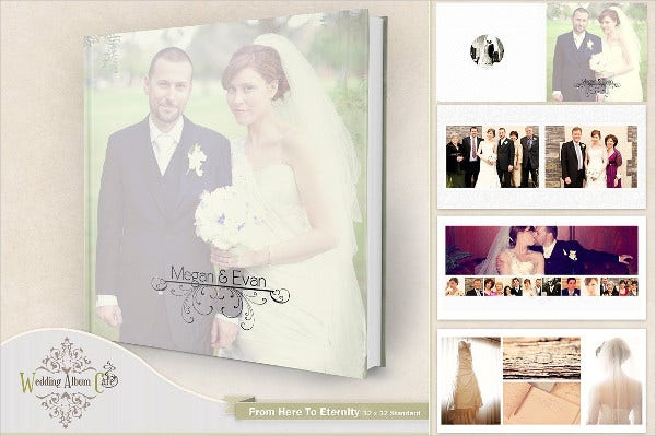 engagement guest book album template