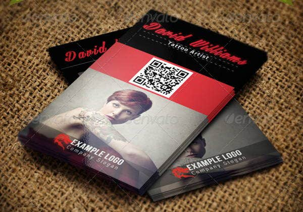 11 tattoo business card templates free premium templates cool tattoo business card wajeb Gallery