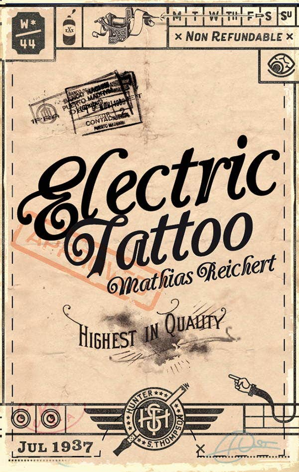 Vintage tattoo business cards arts arts 11 tattoo business card templates free premium wajeb Images