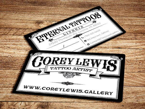 Tattoo Business Ideny Card