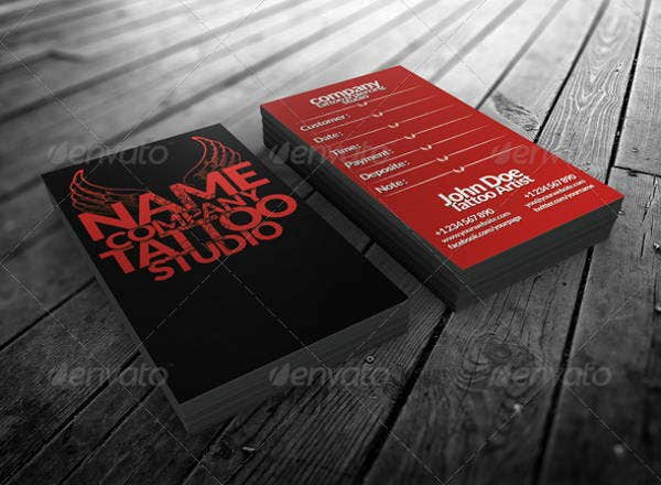 Tattoo Business Card Templates - Best Tattoo Models