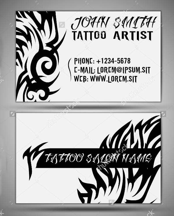 11 tattoo business card templates free premium templates tattoo salon business card wajeb Gallery