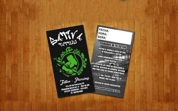 11 tattoo business card templates free premium templates elegant tattoo business card wajeb Gallery