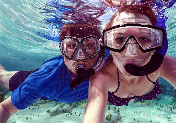 Realistic Underwater Painting