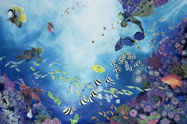 underwater scenery painting