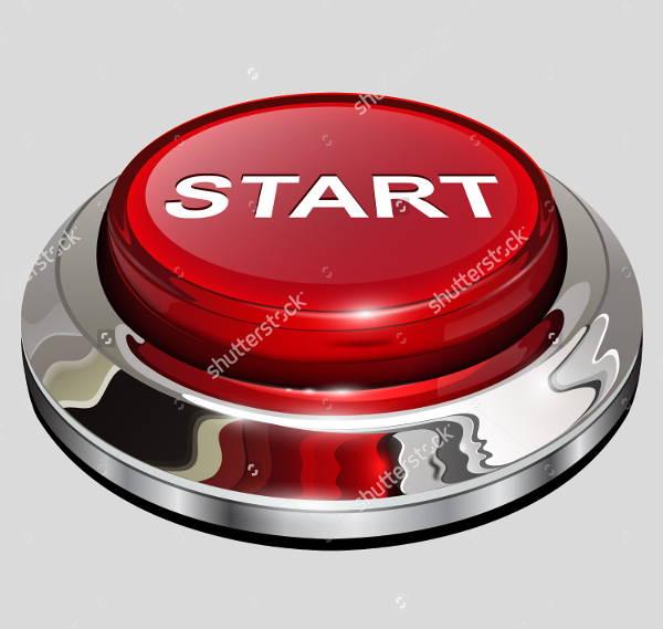 3d glossy start button