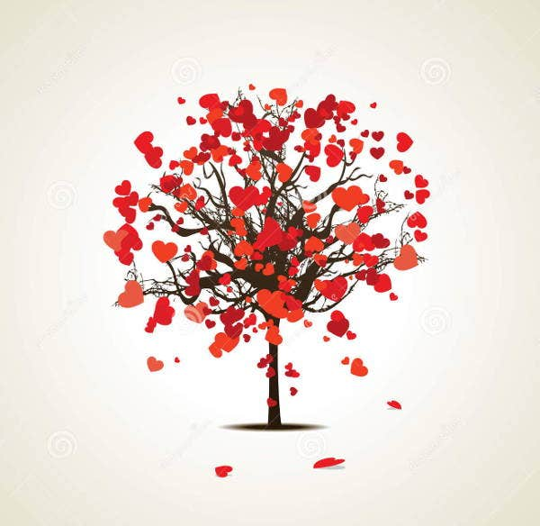 love-tree-illustration-vector