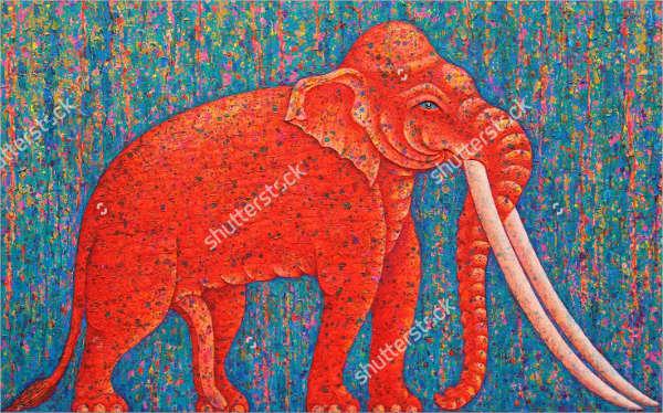 Acrylic Elephant Painting