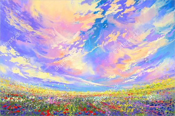 acrylic-sky-painting