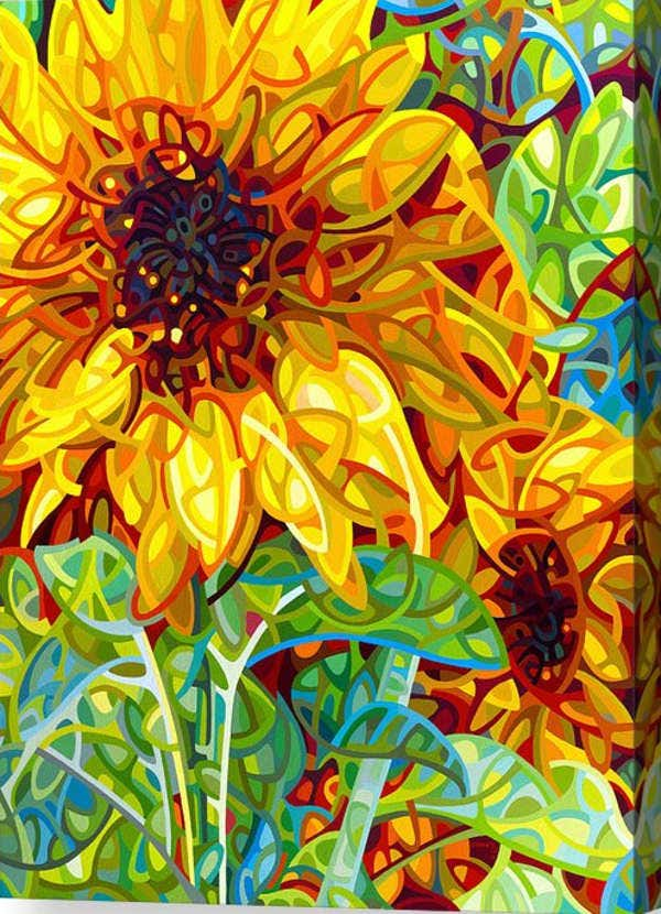 acrylic sunflower painting