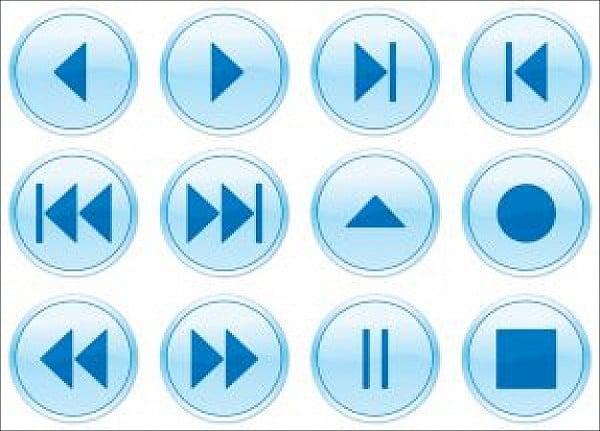 multimedia navigation buttons