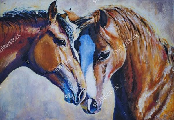 acrylic-horse-painting