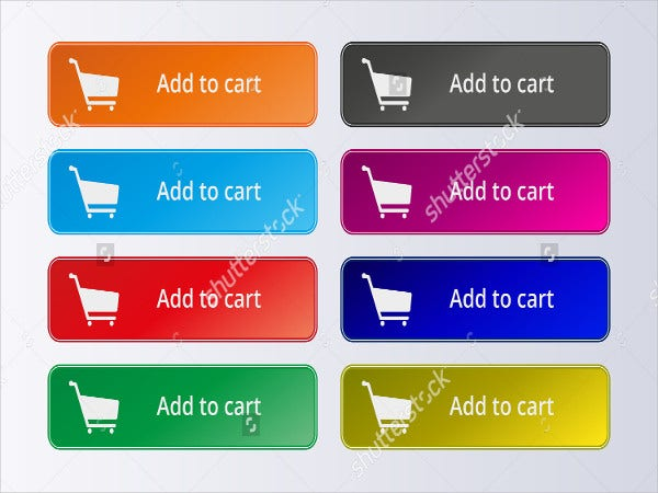 colorful add to cart button
