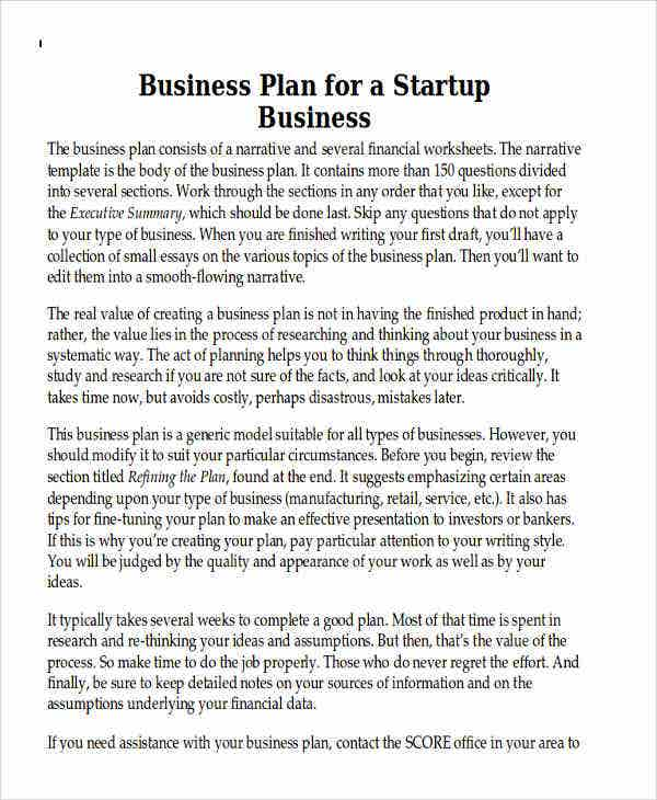 small it business plan template