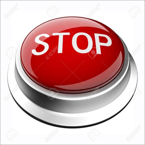 shiny 3d stop button