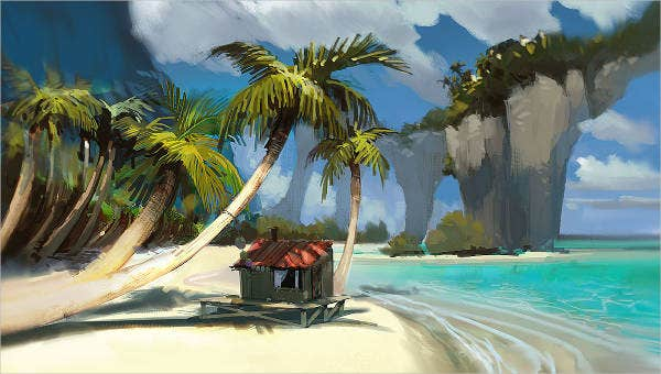 cool beach painting ideas