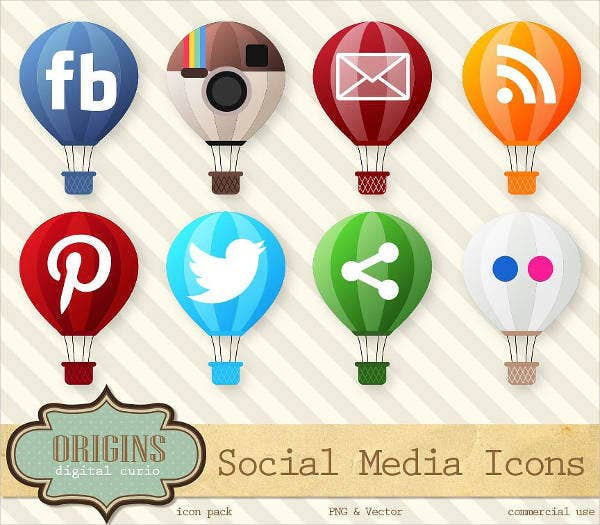 social media website button photoshop