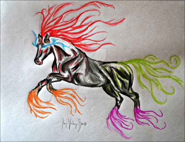 abstract horse painting