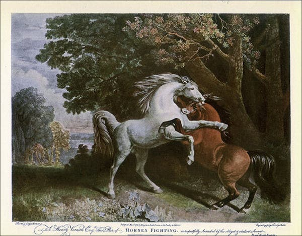 vintage-horse-painting