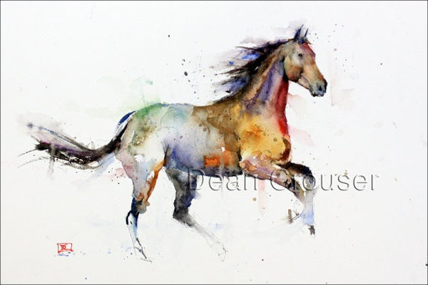 watercolor-horse-painting