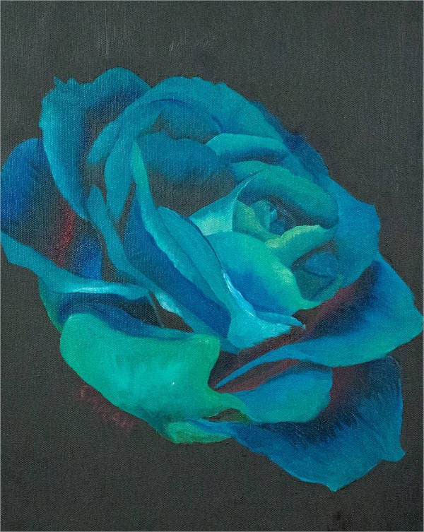 Blue Rose Painting