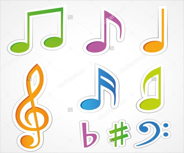 music-note-stickers