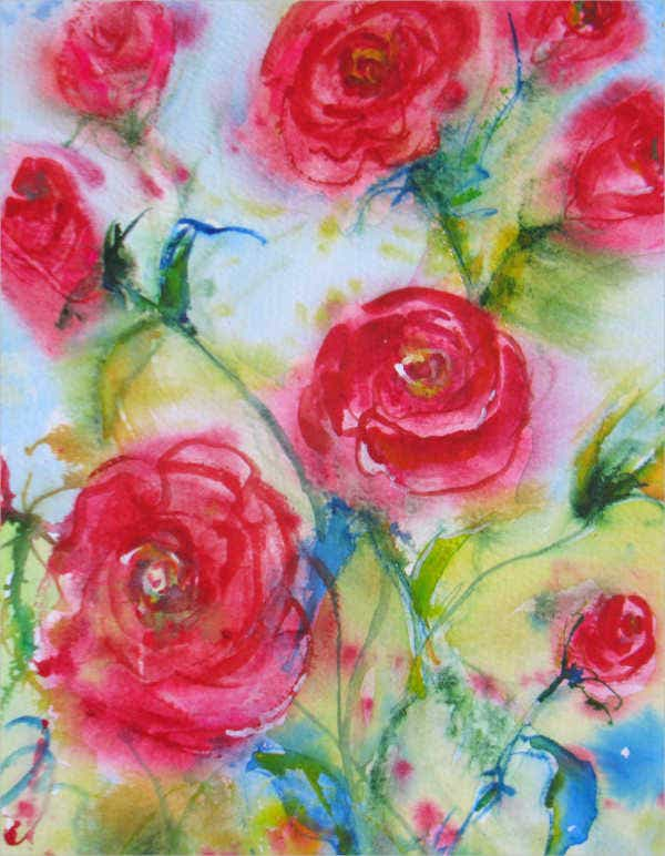Abstract Rose Painting