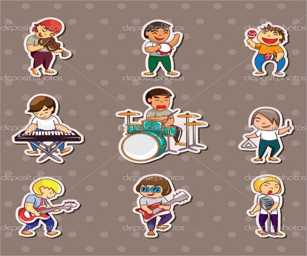 music-band-stickers