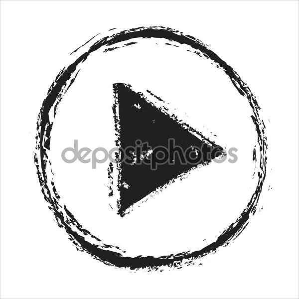 Grunge Play Button