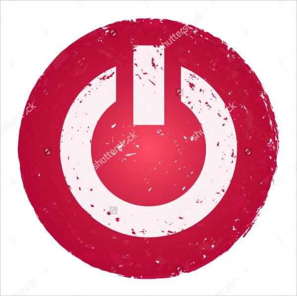 Grunge Power Button