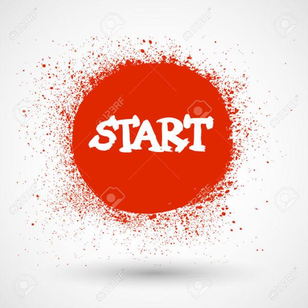 Grunge Start Button