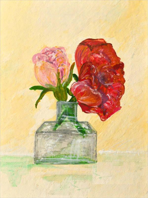 Vintage Rose Painting