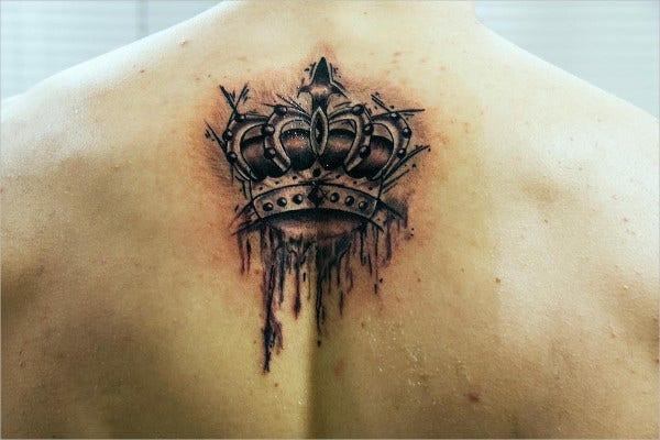 Abstract Crown Tattoo