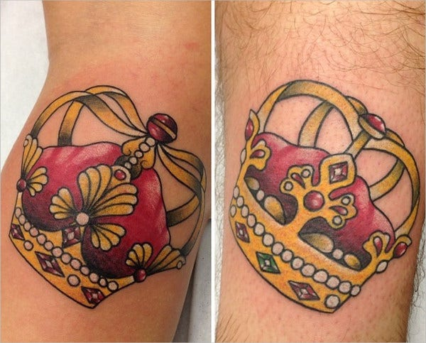 Couple Crown Tattoo