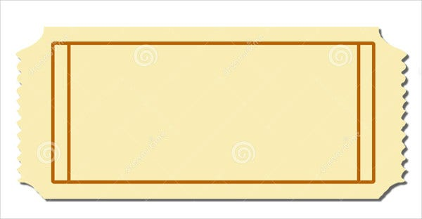 Delightful Blank Admission Ticket Template  Entry Ticket Template