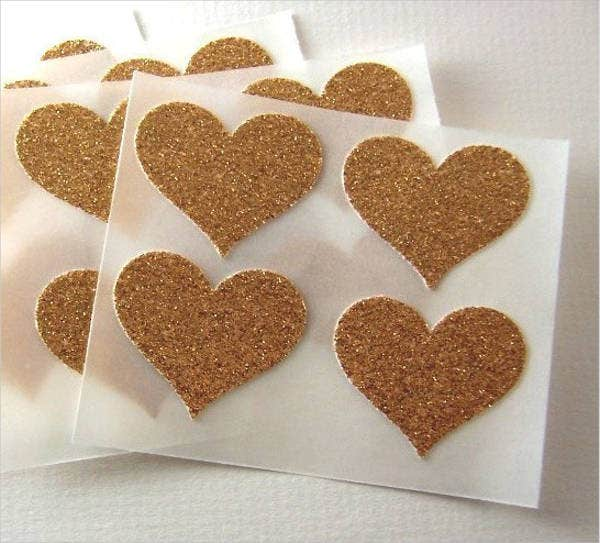 glitter heart stickers1