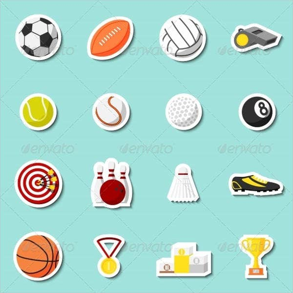 Small Sports Stickers