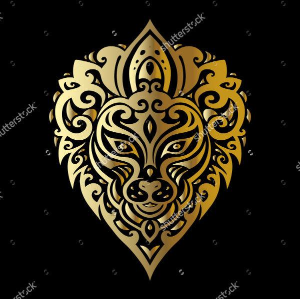 Lion Polynesian Tattoo