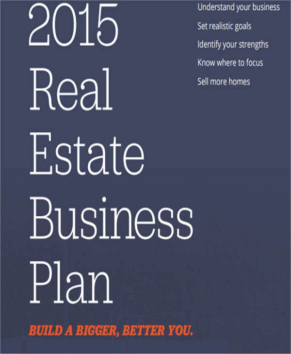 real estate sales business plan template