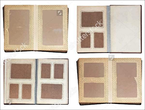 mini scrapbook album template
