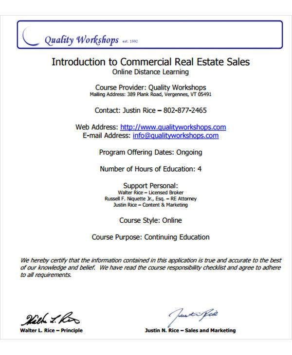 commercial real estate sales plan template