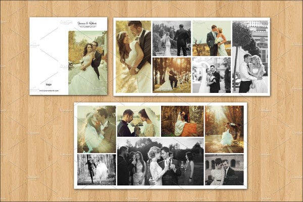 wedding mini album template