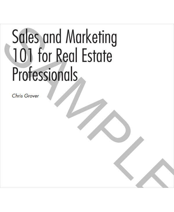 Real Estate Sales Plan Templates   Free Word Pdf Format