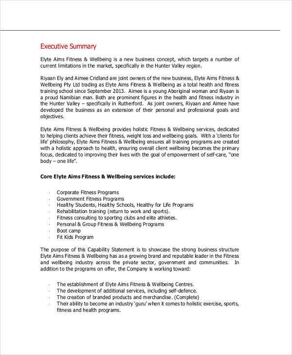 Personal Business Plan Templates   Free Word Pdf Format