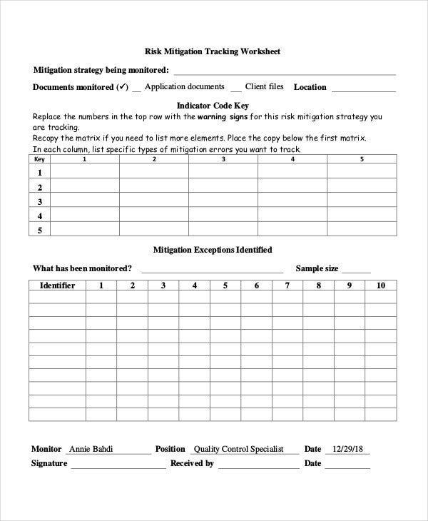Risk Action Plan Templates   Free Word Pdf Format Download