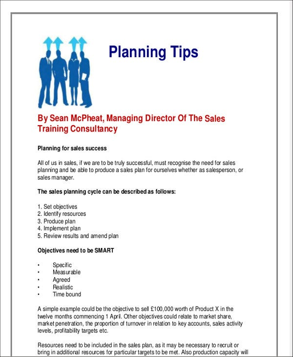 Monthly Sales Plan Templates - 11+ Free Word, PDF Format Download ...