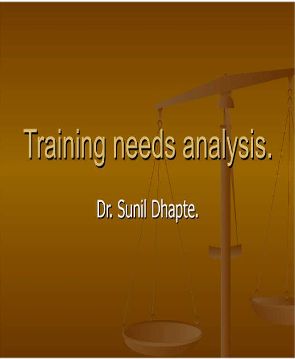 training needs analysis action plan