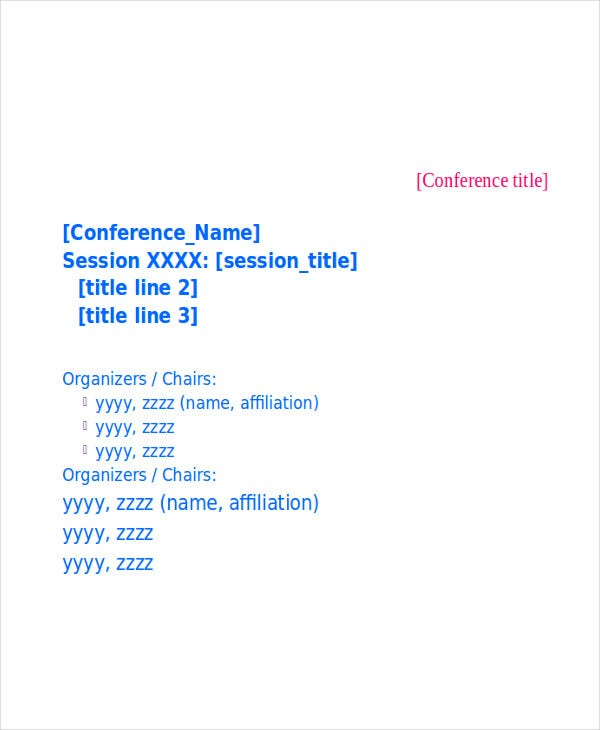 conference oral presentation template
