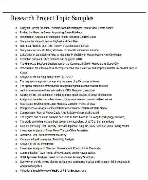 Real Estate Project Report Templates   Free Word Pdf Format
